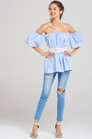 Maria Belt Blouse