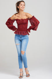 storets.com Mikayla Shirred Summer Blouse