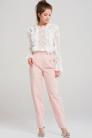 Rowan Check Cotton Pants