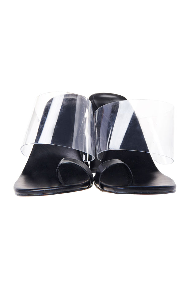Clear Heel Toe Ring Heels