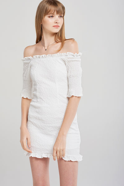 Ella Whole Shirred Mini Dress