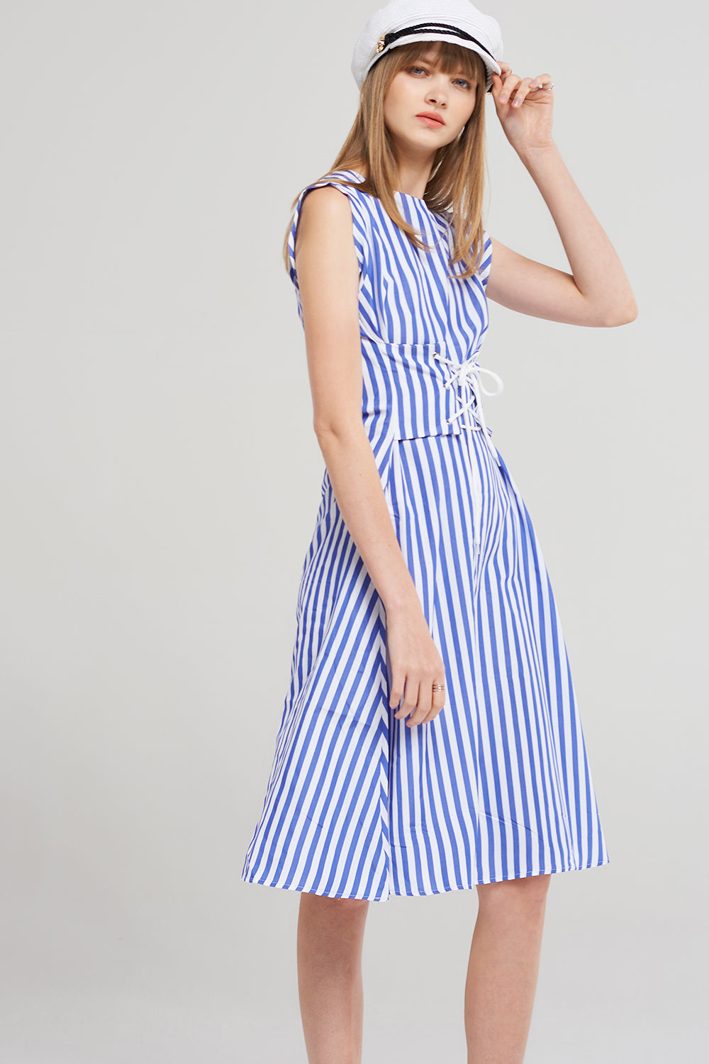 Alexa Blue Stripe Dress