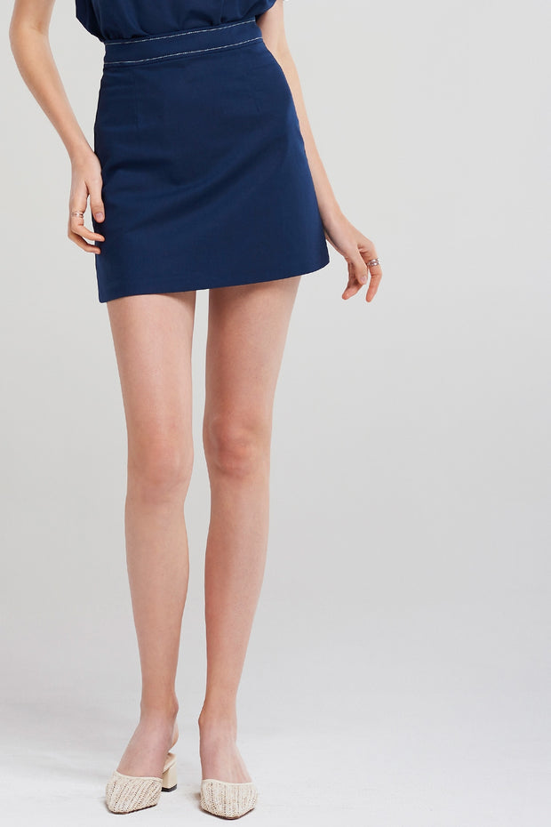 Ava Stitch Detail Skirt
