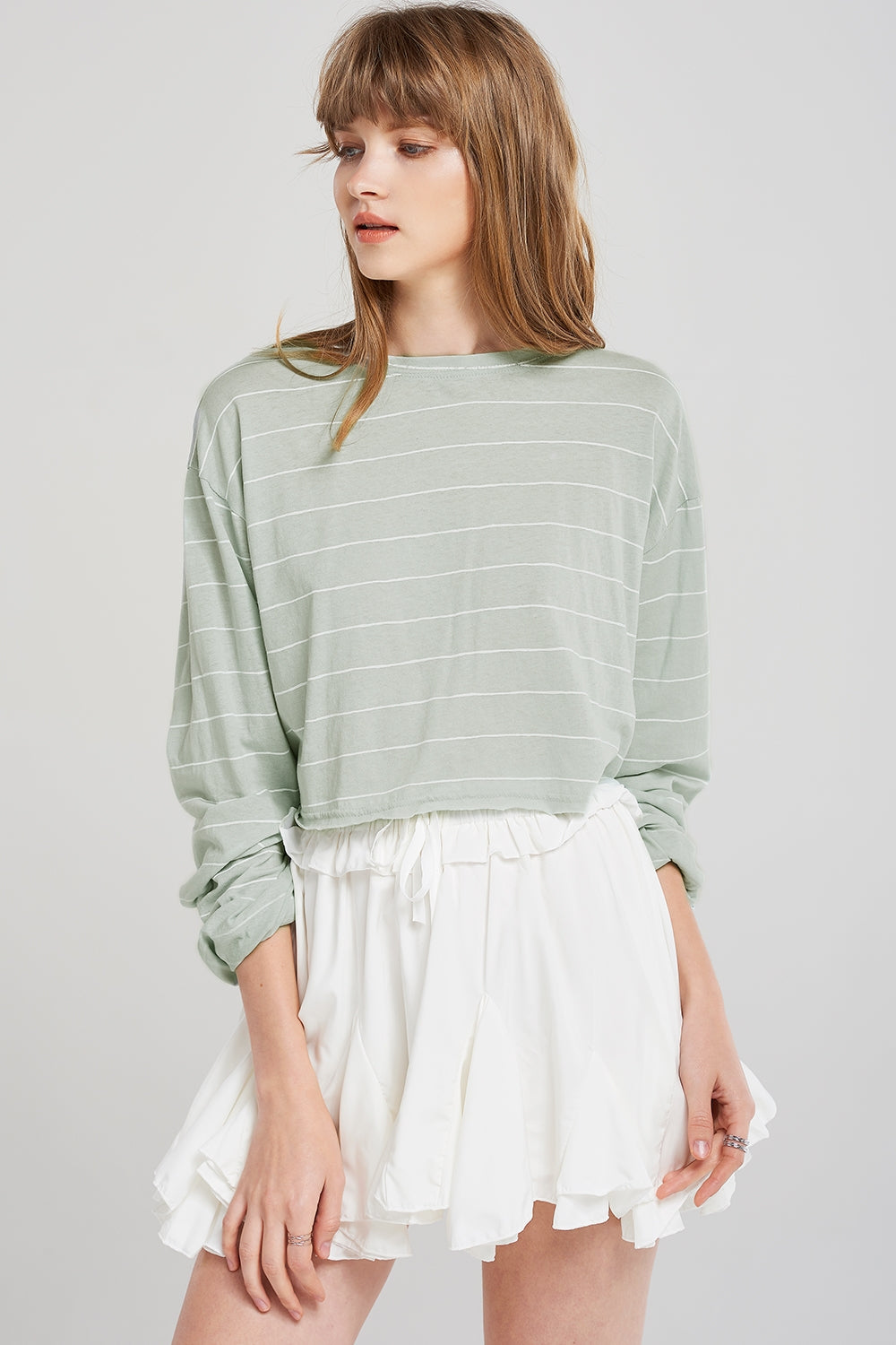 Abigail Lined Crop Top