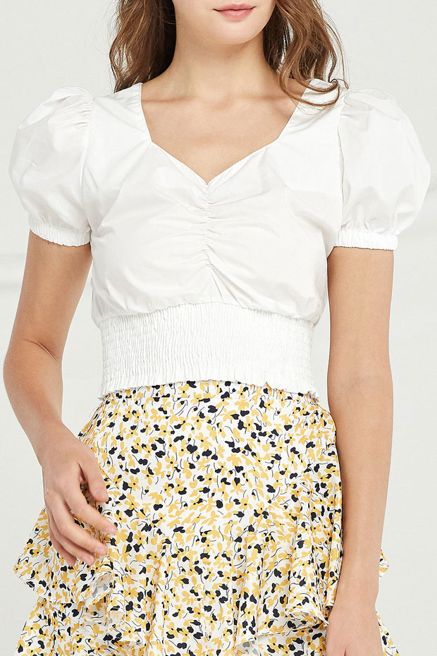 Morgan Cinched Front Crop Top by STORETS
