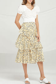 Brooke Floral Ruffle Tiered Skirt