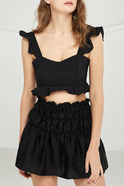 Aliyah Ruffle Cropped Tank Top by STORETS