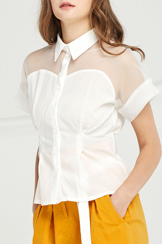 Sara Organza Panel Shirt