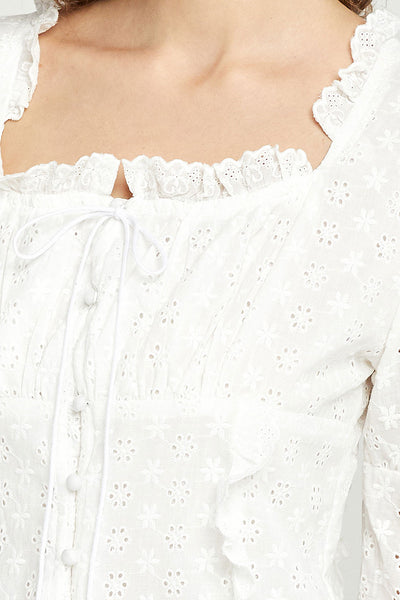 Georgia Eyelet Lace Dress by STORETS