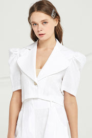 Melody Puff Sleeve Crop Jacket by STORETS