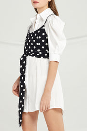 Hadley Shirt Dress And Cami Wrap Top Set