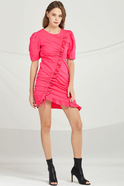 Kylie Drawstring Ruched Dress by STORETS