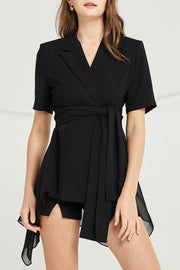 Khloe Chiffon Panel Jacket by STORETS