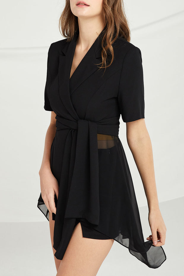 Khloe Chiffon Panel Jacket