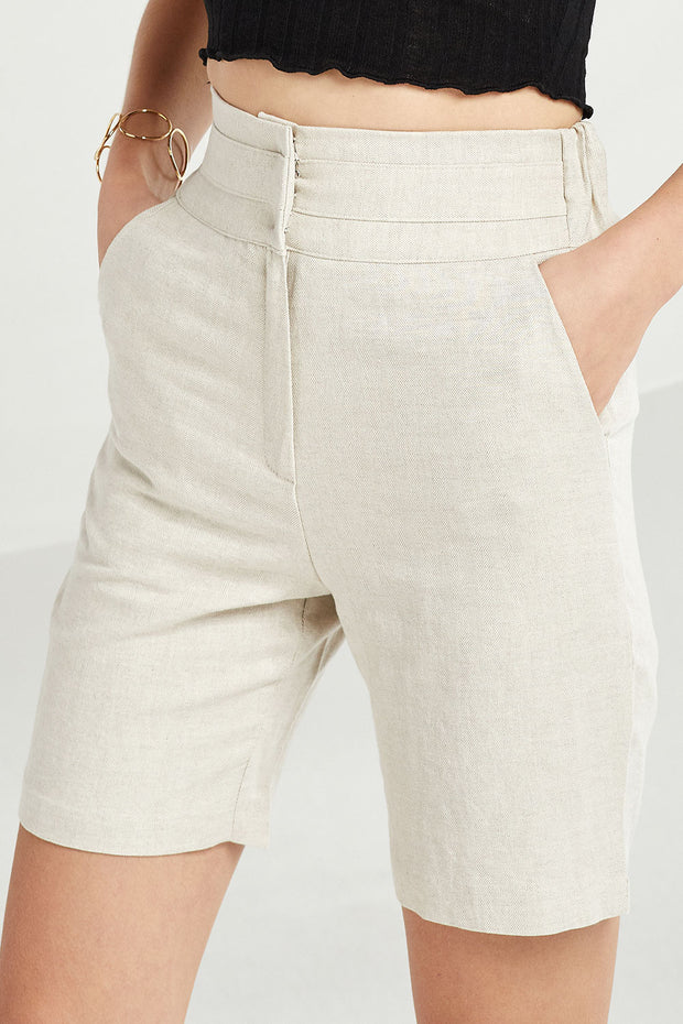 Remi High Waist Bermuda Shorts