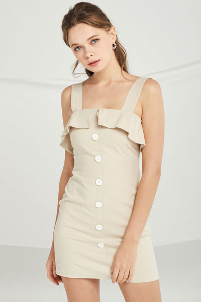 Ximena Ruffle Pinafore Dress by STORETS