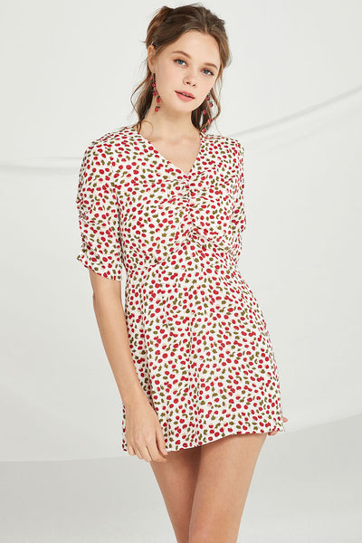 Mary Cherry Mini Dress