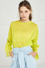 Sydney Sheer Knit Pullover by STORETS