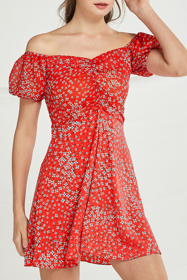 Noelle Floral Sweetheart Neck Dress by STORETS