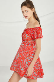 Noelle Floral Sweetheart Neck Dress
