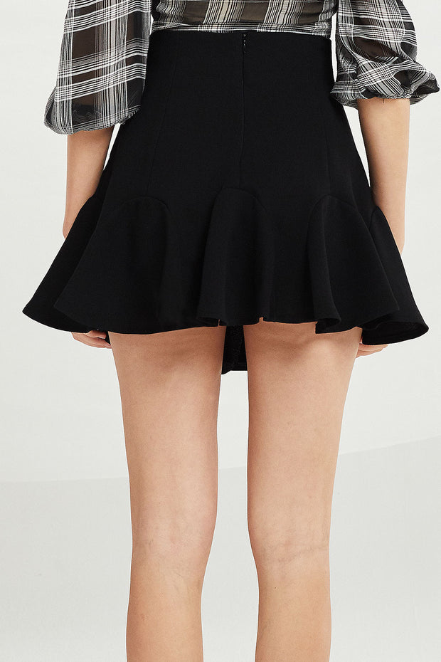 Julianna Wavy Ruffle Hem Skirt