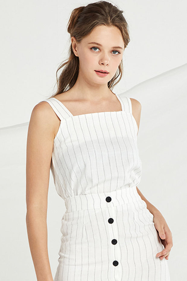 Katherine Pin Stripe 2-Piece Set
