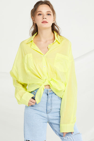 Valerie Boyfriend Cover Up Shirt by STORETS