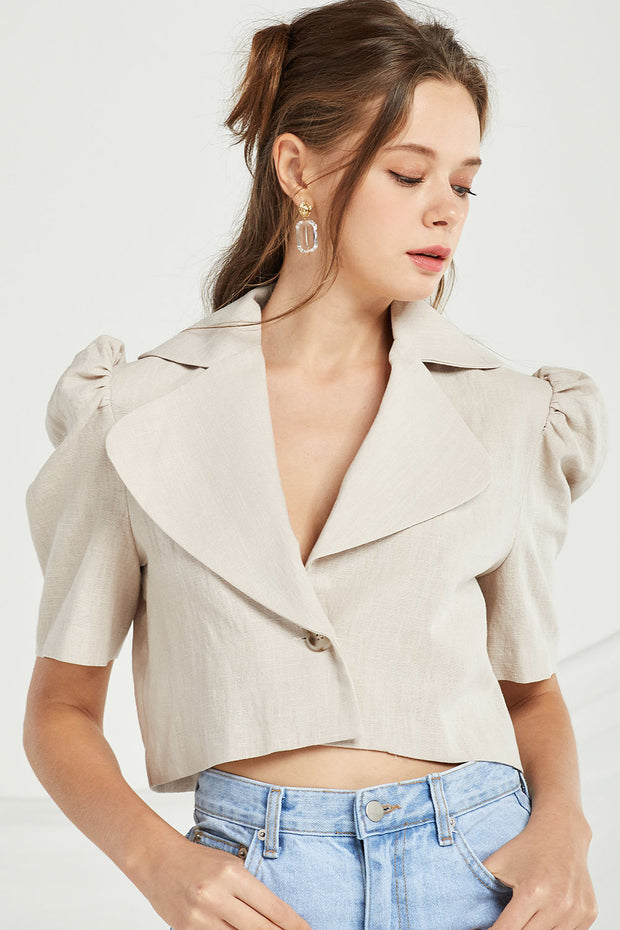 Melody Puff Sleeve Crop Jacket