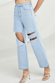 Sienna Distressed Flare Jeans
