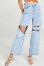 Sienna Distressed Flare Jeans by STORETS