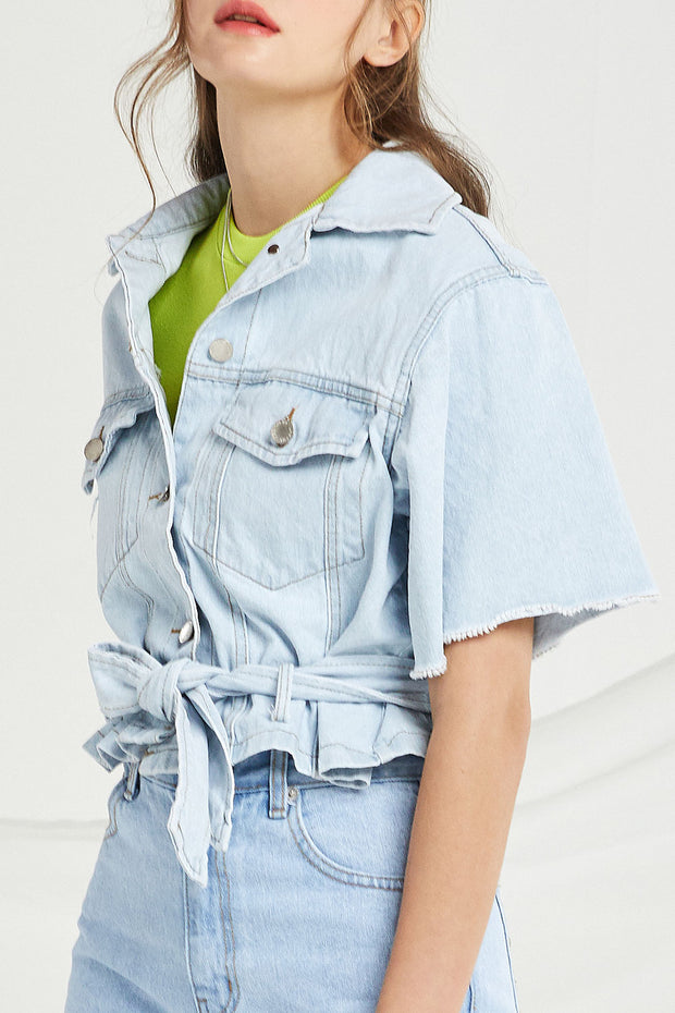 Camille Crop Denim Jacket
