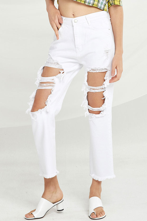 Amara Distressed Cutout Jeans by STORETS