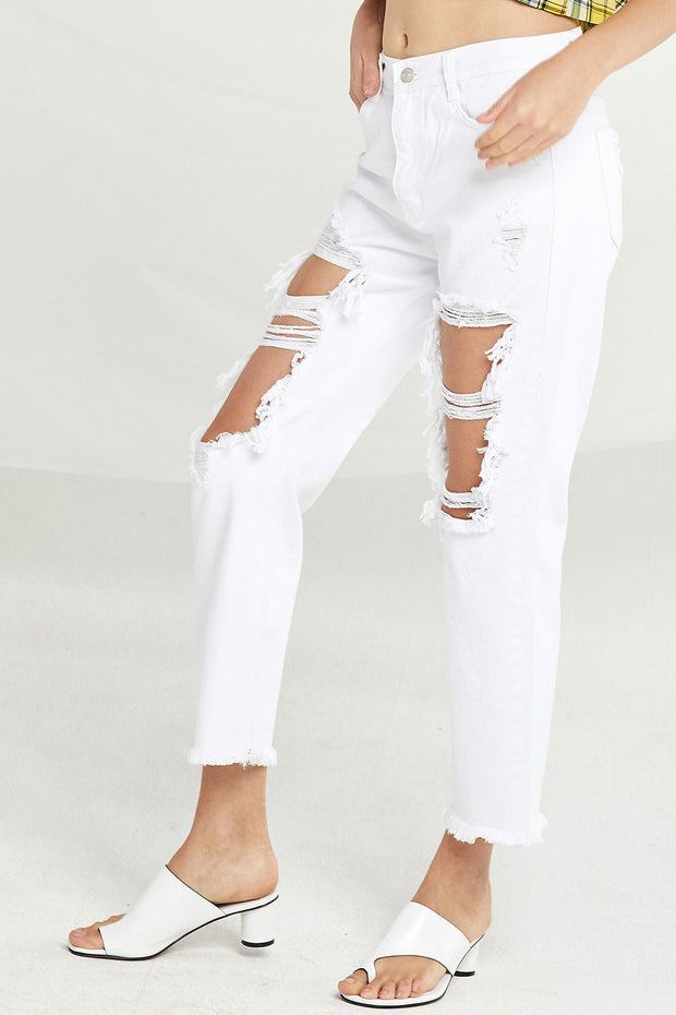 Amara Distressed Cutout Jeans