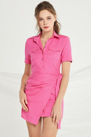 Ashley Shirt Dress w/ Wrap Skirt