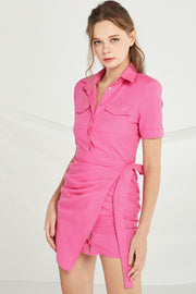 Ashley Shirt Dress w/ Wrap Skirt by STORETS