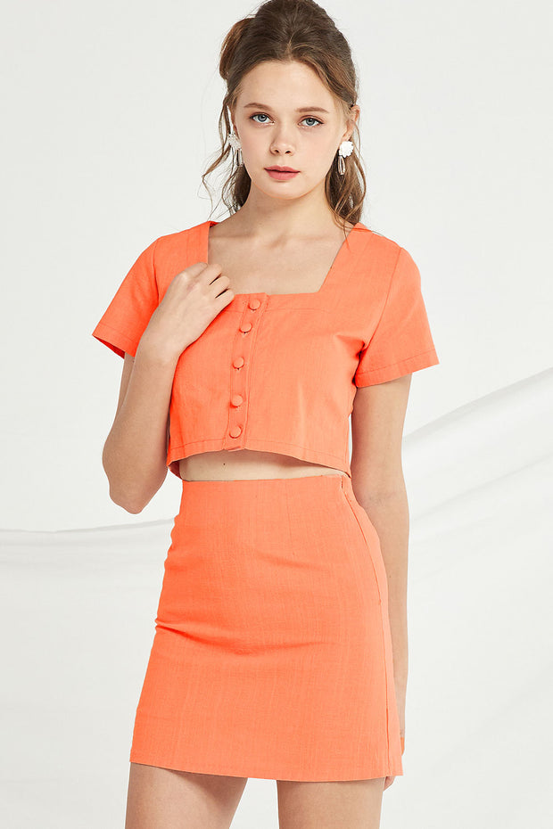 Josephine Crop Top And Skirt Set