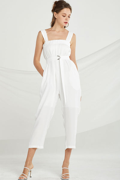 Dakota Smocked Wide Leg Jumpsuit by STORETS
