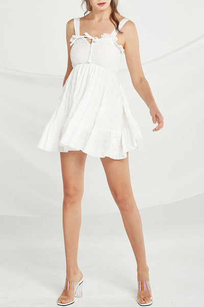 Rosalie Frill Pinafore Dress by STORETS