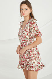 Mary Cherry Wrap Dress