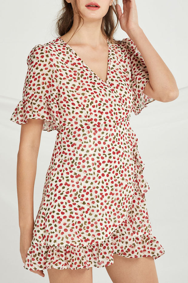 Mary Cherry Wrap Dress by STORETS