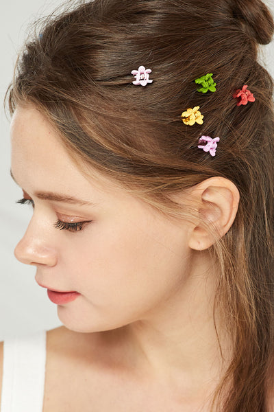 Petite Flower Hair Claw Clip Set