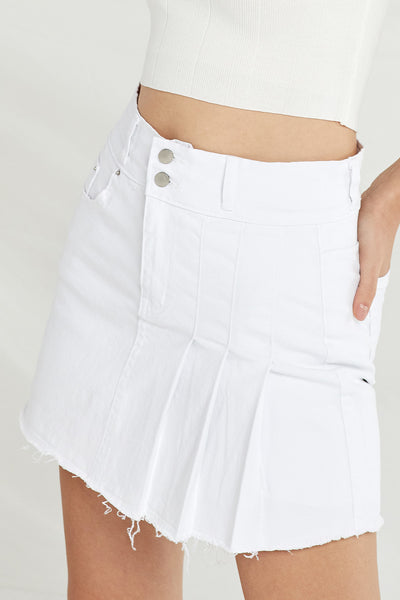Ana Half Pleated Mini Skort