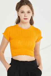 Adriana Ribbed Knit Crop Top