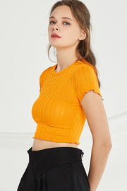 storets.com Adriana Ribbed Knit Crop Top