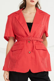 Hope Belted Linen Jacket by STORETS