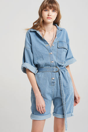 Tiani Denim Rompers