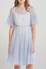 storets.com Kelly Gingham Chiffon Dress