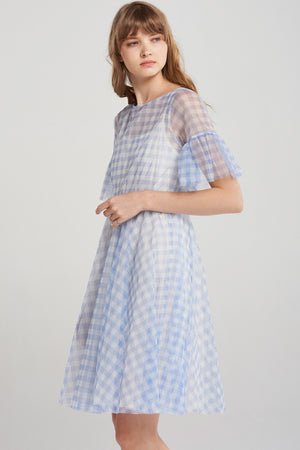 Kelly Gingham Chiffon Dress