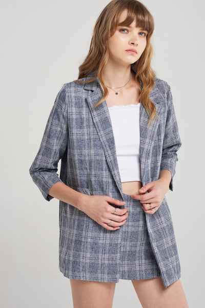 Vicky Square Check Suit Set