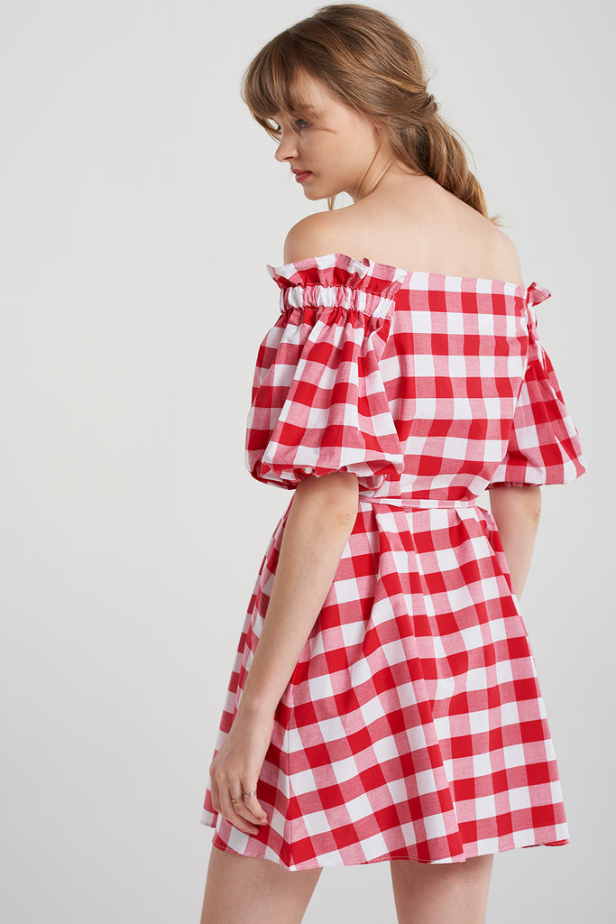 Belinda Bold Gingham Check Dress